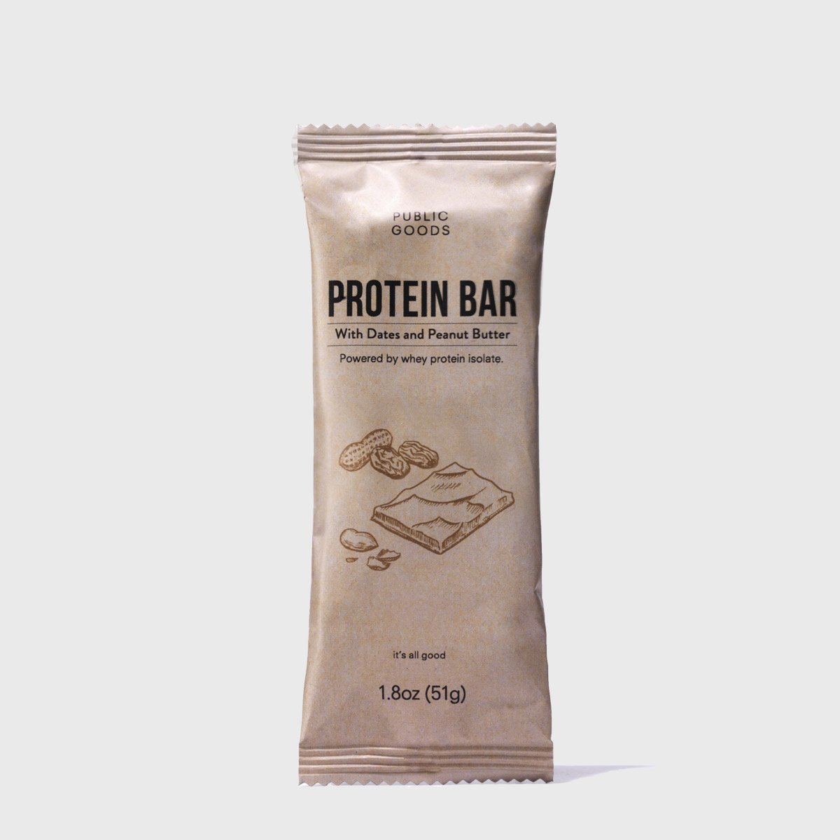 Peanut Butter & Date Protein Bar 4 ct (Case of 6)
