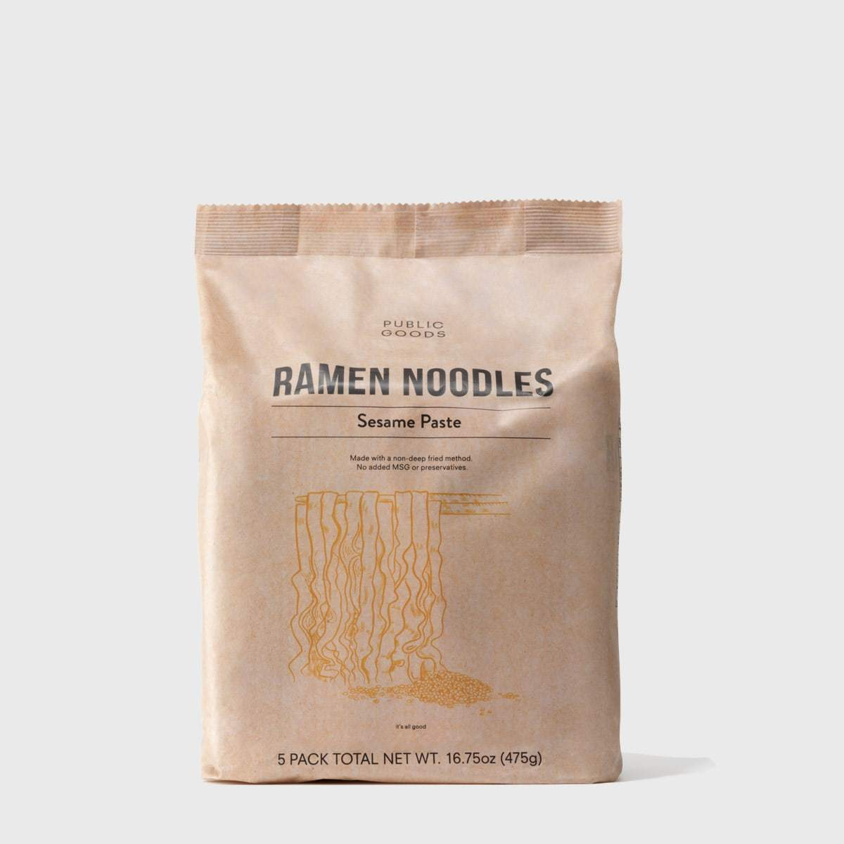 packaged sesame paste ramen noodles