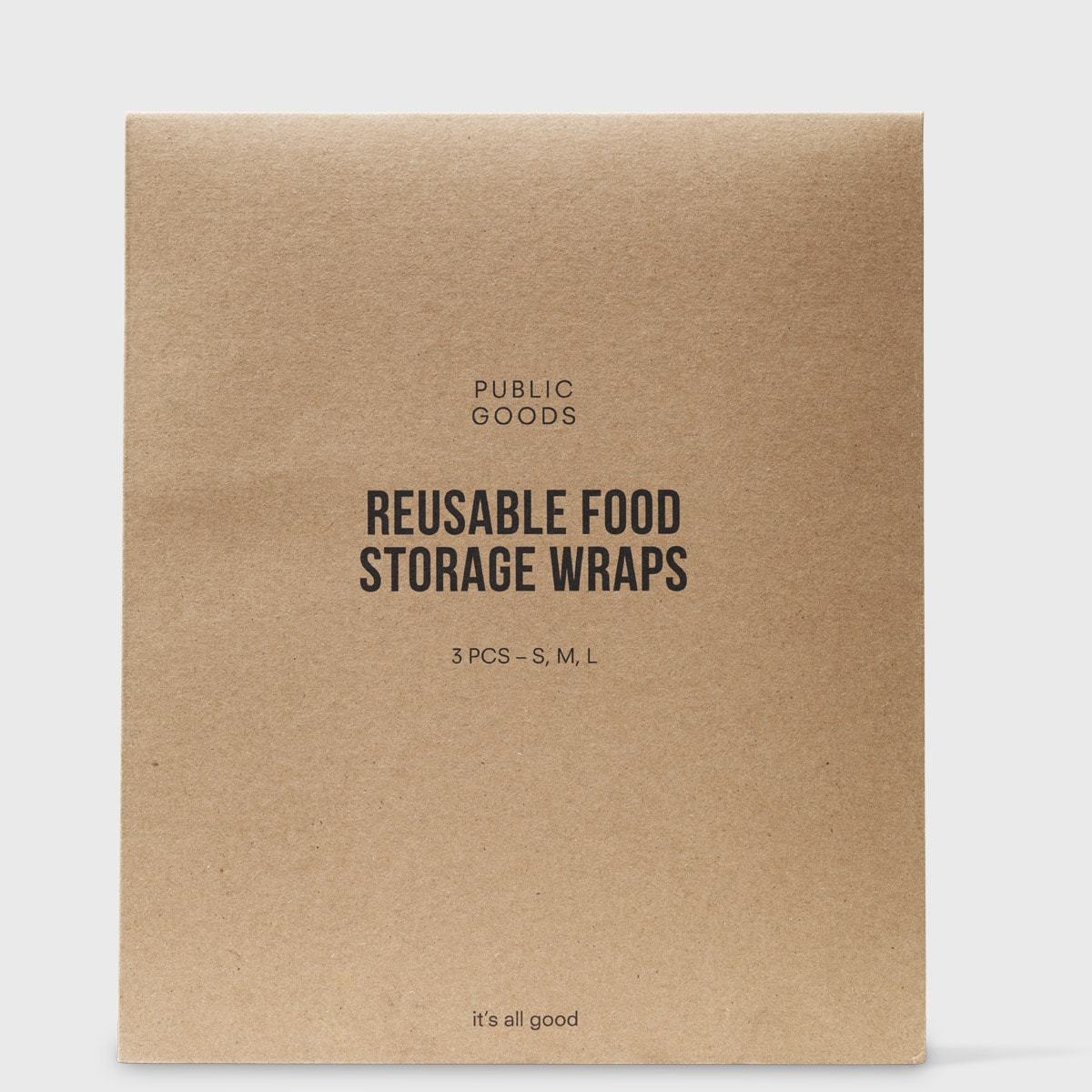 Public Goods Household Reusable Food Storage Wraps