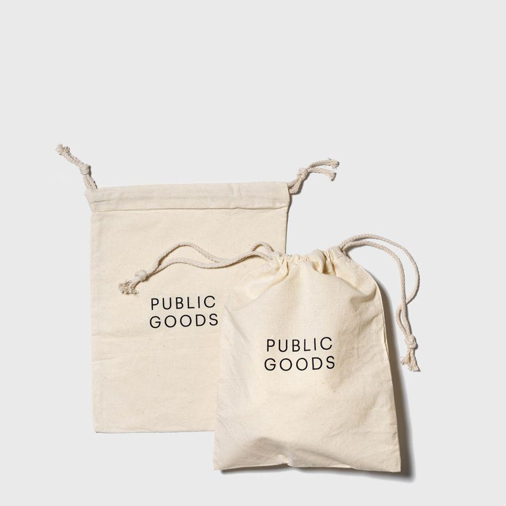 public goods reusable cotton produce bags