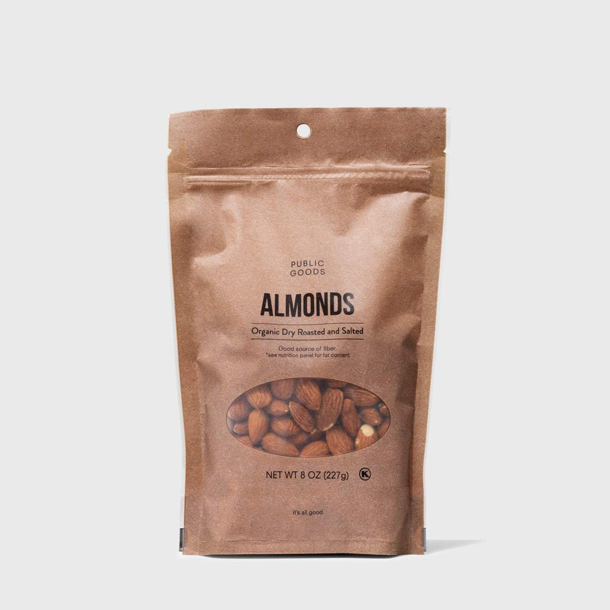 bag of roasted and salted almonds