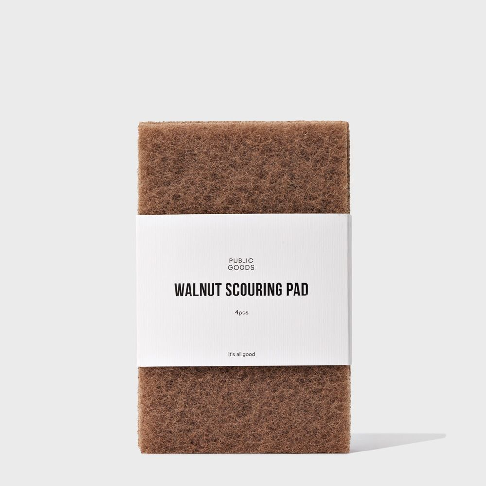 four walnut scouring pads