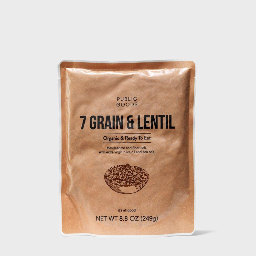 bag of organic seven grain and lentil
