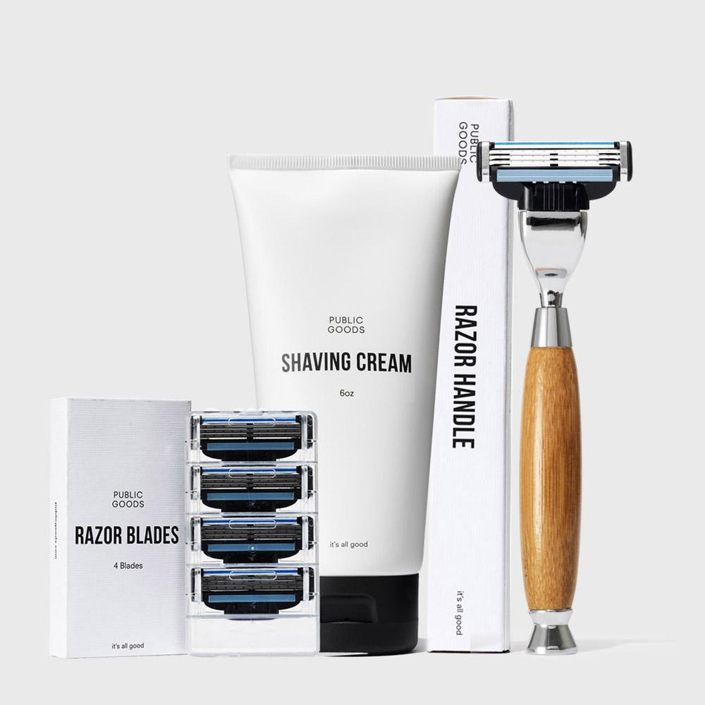 Public Goods Product Set Shaving Set