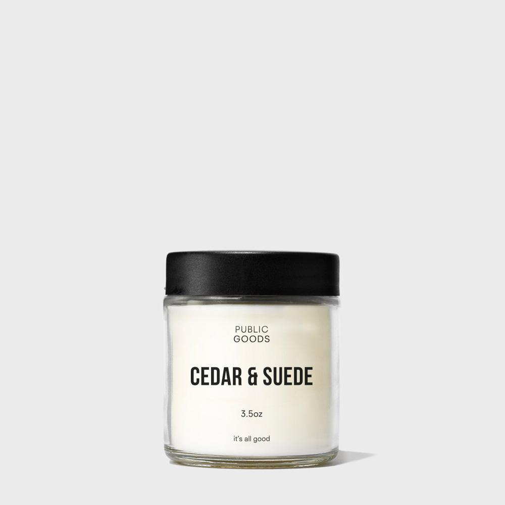 Public Goods Household Cedar & Suede Scented Candle