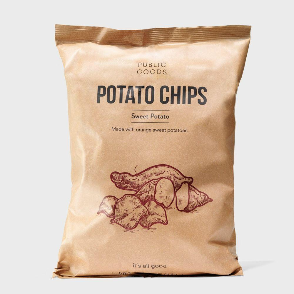 bag of public goods sweet potato chips