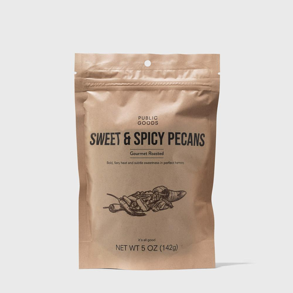 bag of sweet and spicy pecans