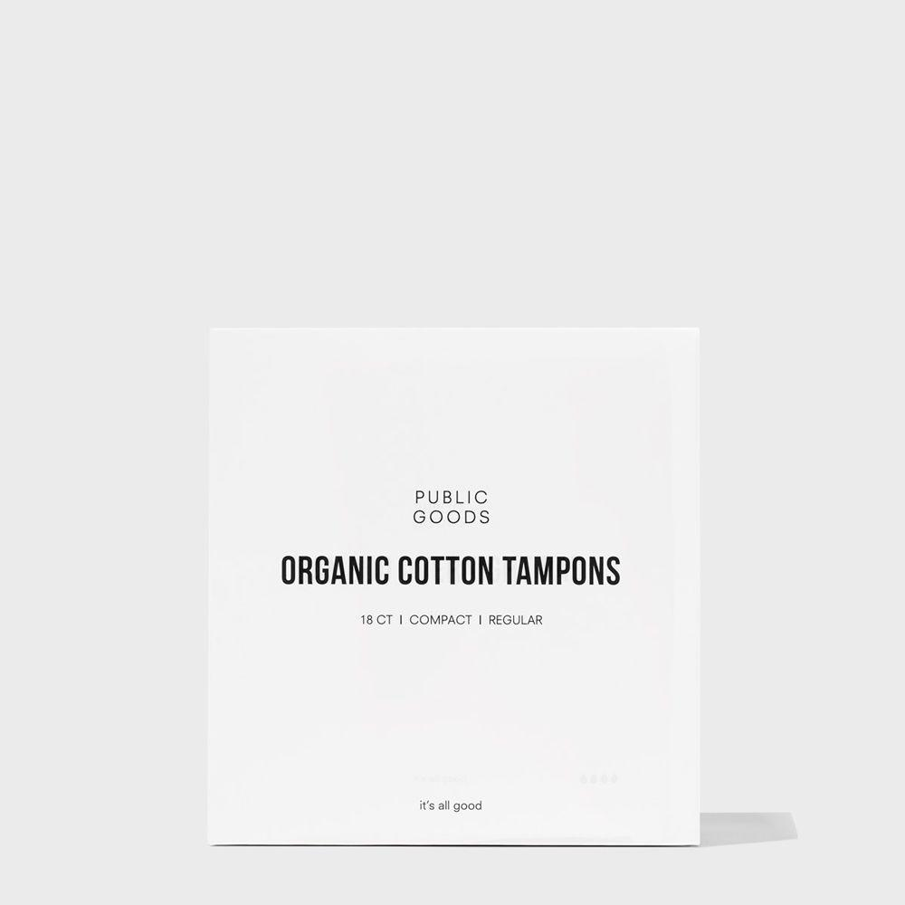 Public Goods Personal Care Cotton Tampons with Applicator - Regular