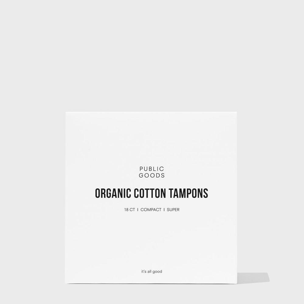 Public Goods Personal Care Cotton Tampons with Applicator - Super