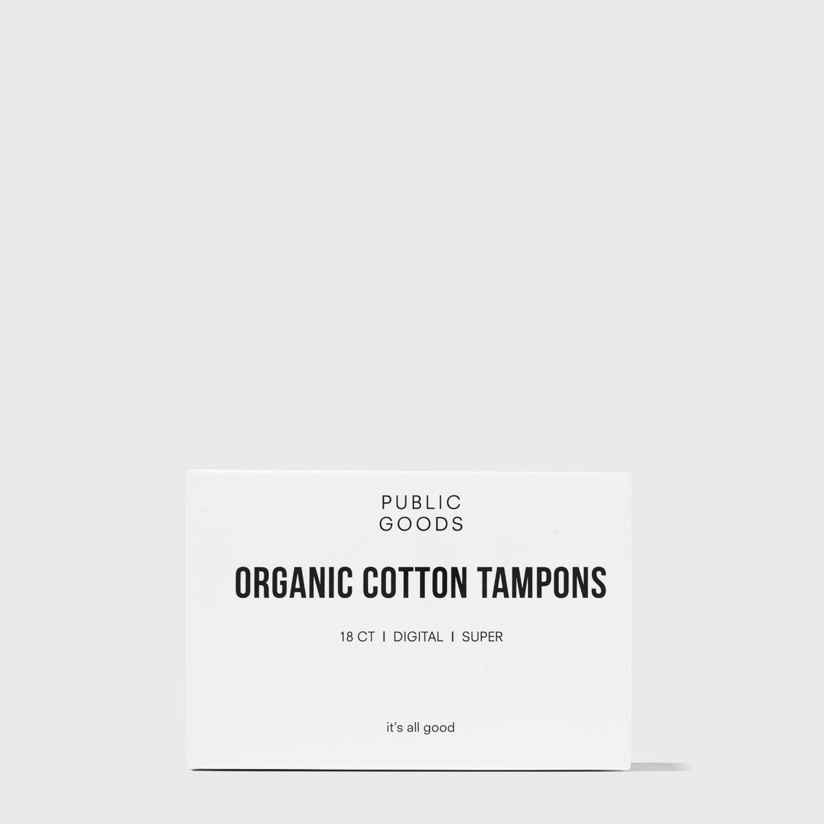 Cotton Tampons without Applicator - Super 18 ct (Case of 48)