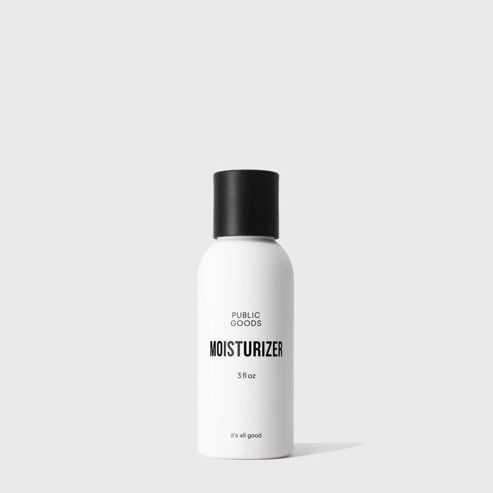 bottle of travel size face moisturizer