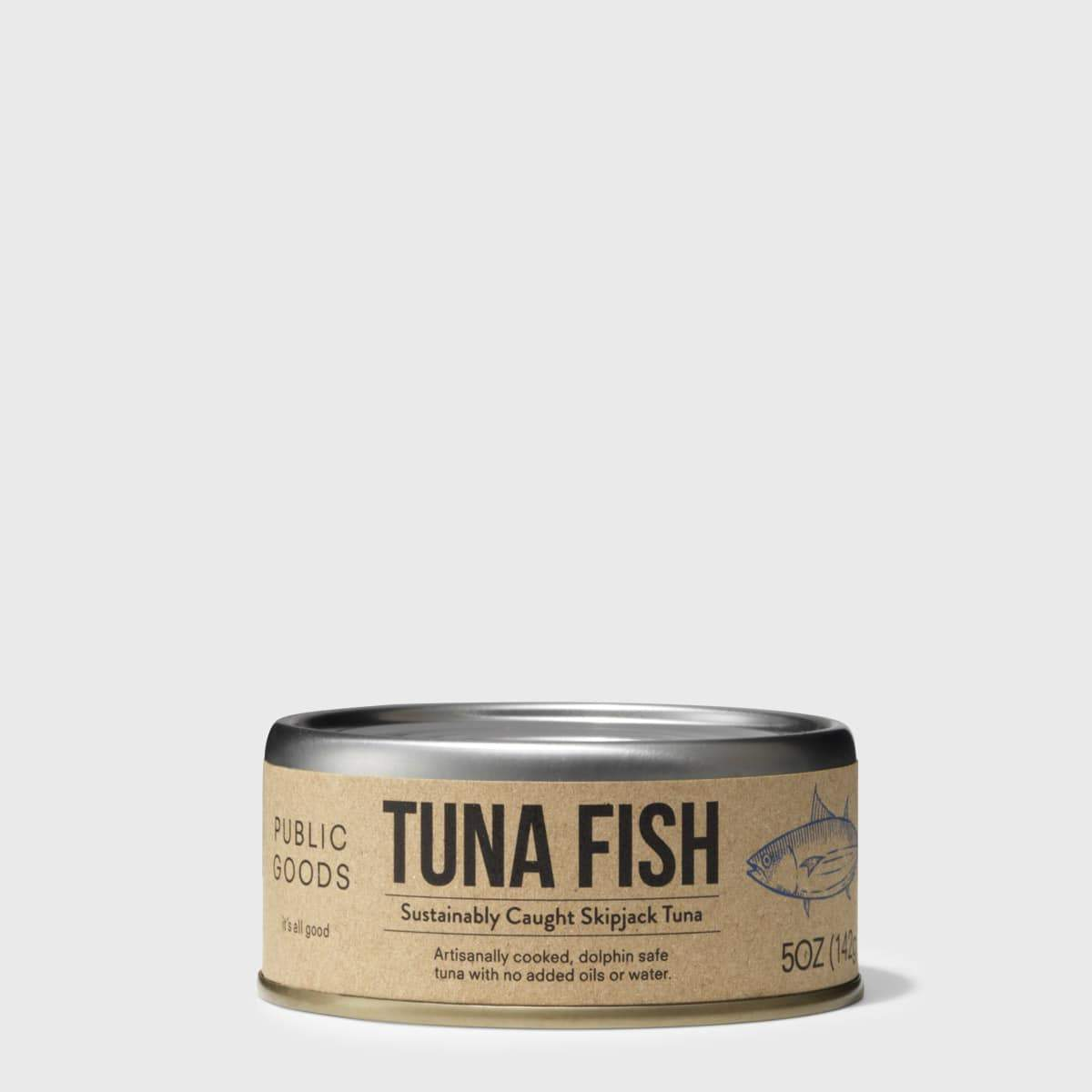 can of public goods skipjack tuna fish