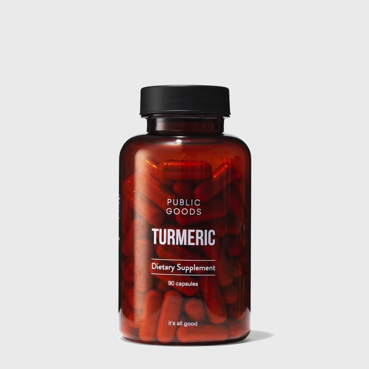 bottle of turmeric capsules