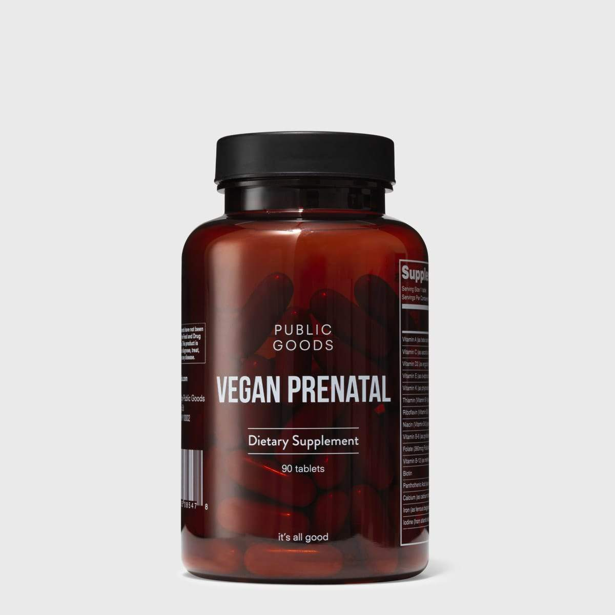 Public Goods Supplement Vegan Prenatal