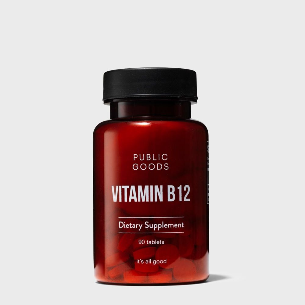 bottle of vitamin b12 supplement