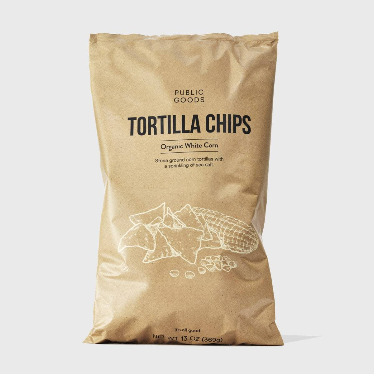 bag of public goods white corn tortilla chips