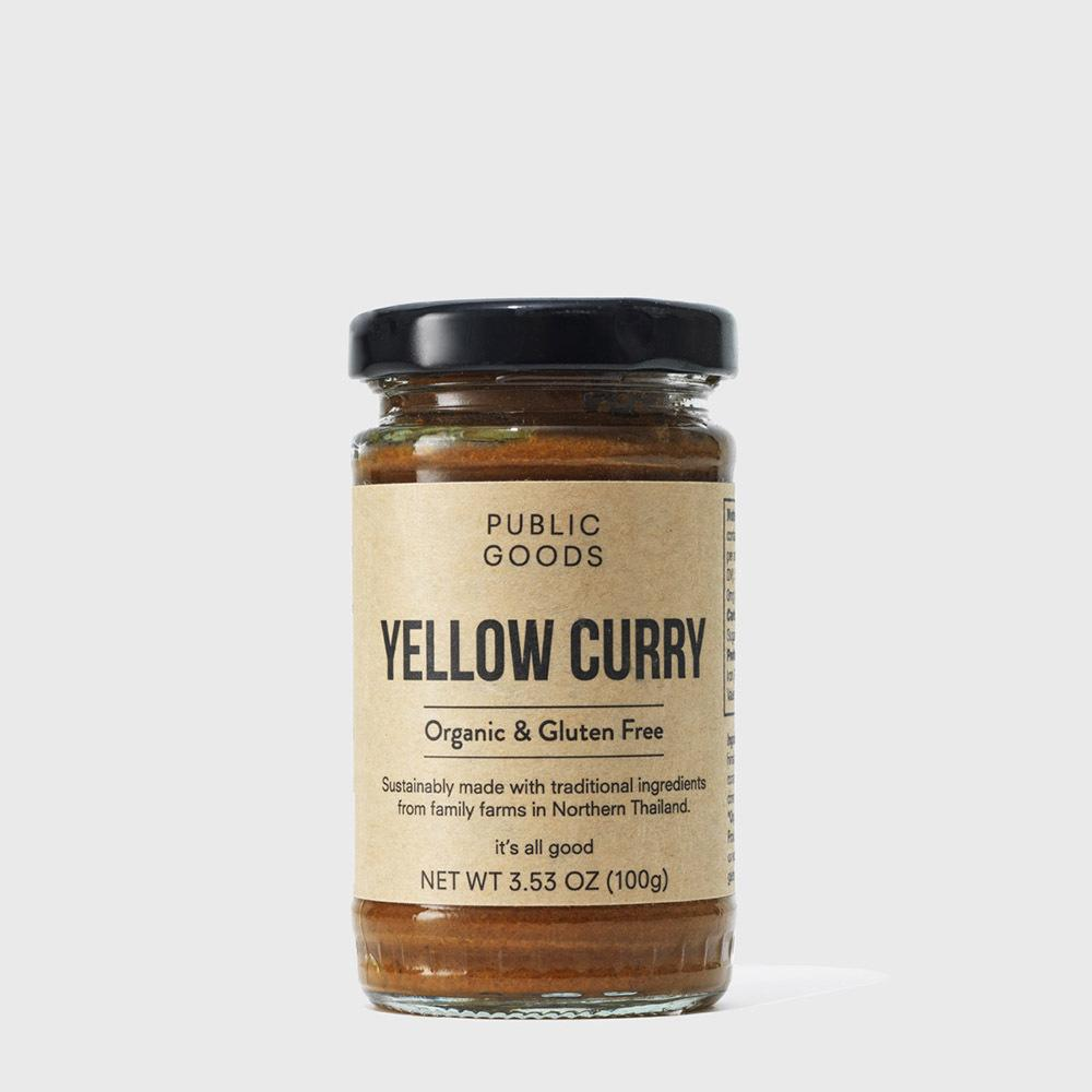 jar of yellow curry paste