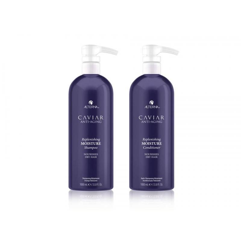 Alterna Caviar Replenishing Moisture Shampoo & Conditioner 1000ml Duo