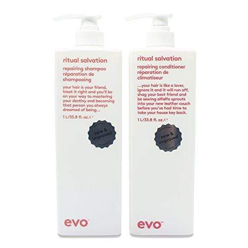 Evo Ritual Salvation Shampoo & Conditioner 1000ml Duo (Salon Backwash Size with free pumps)