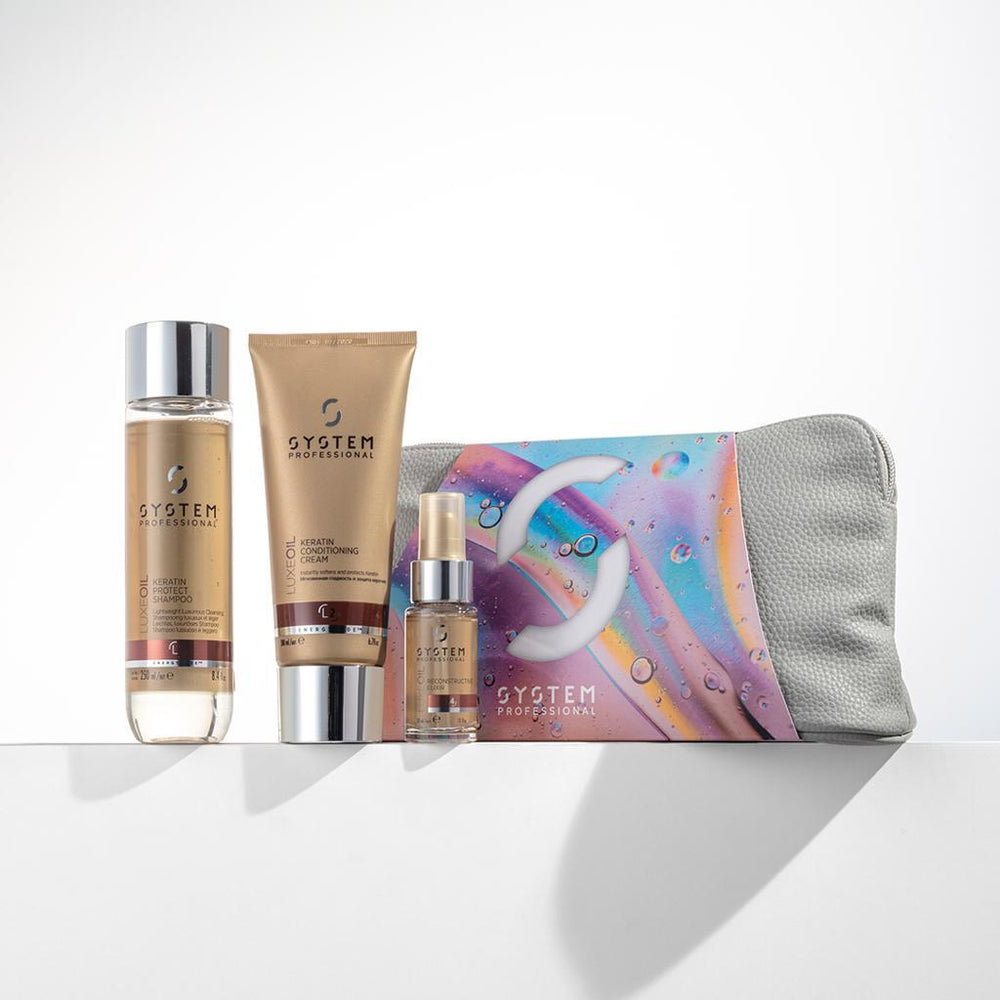 System Professional Luxe Oil Shampoo & Conditioner Set Gift Bag Trio with 'Free' Oil