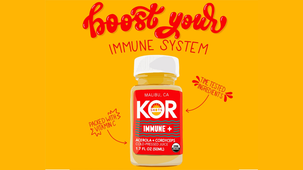KOR Shots organic acerola and cordyceps immune+ immune plus boost your immune system