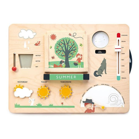 wooden weather board toy for kids