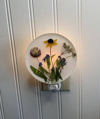 night light with flowers