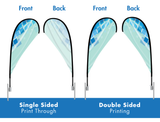 7ft. Double-Sided Teardrop Flag Package