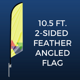 10.5ft. Double-Sided Feather Angled Flag Package
