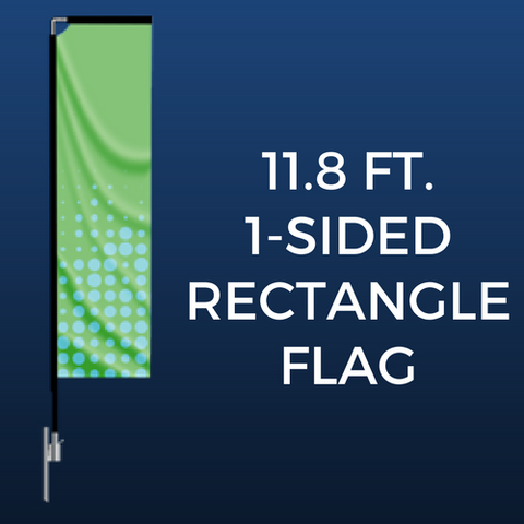 11.8ft. Single-Sided Rectangle Flag Package