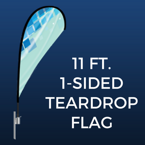 11ft. Single-Sided Teardrop Flag Package