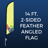 14ft. Double-Sided Feather Angled Flag Package