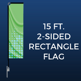 15ft. Double-Sided Rectangle Flag Package