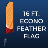 16ft. Econo Feather Flag