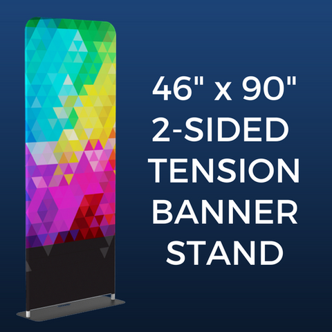 "46"" x 90"" 2-Sided Tension Banner Stand Package"