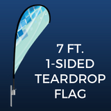 7ft. Single-Sided Teardrop Flag Package