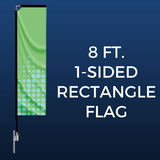 8ft. Single-Sided Rectangle Flag Package