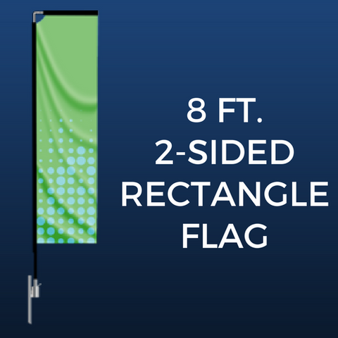 8ft. Double-Sided Rectangle Flag Package