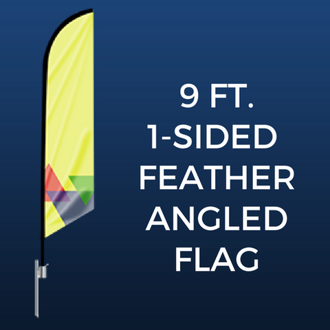 9ft. Single-Sided Feather Angled Flag Package