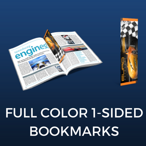 Full Color One-Sided Bookmarks