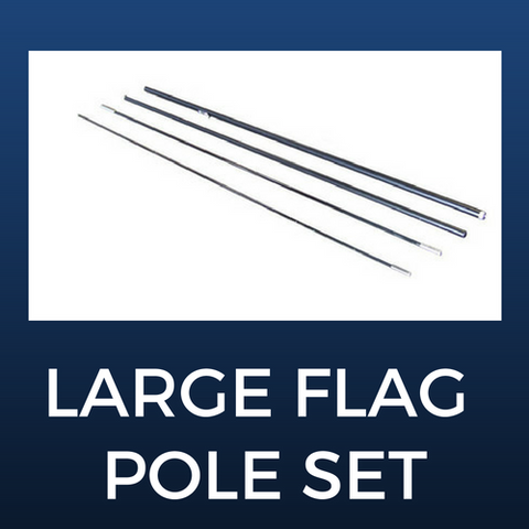 Large Flag Pole Set
