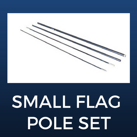Small Flag Pole Set