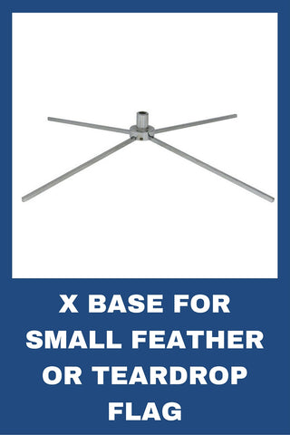 X-Base for Small Feather or Teardrop Flag