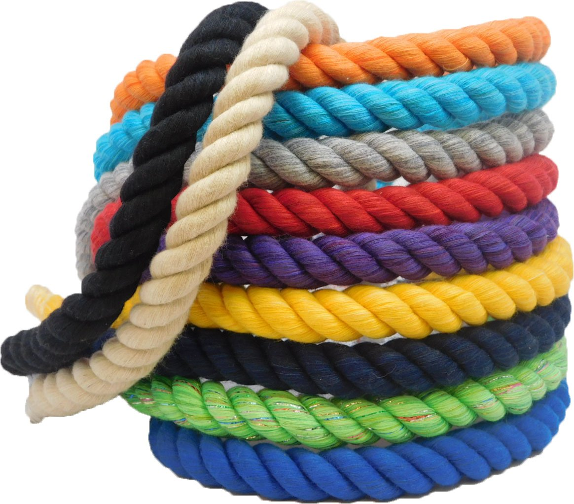 Ravenox Twisted Cotton Rope Cord Twine for Macrame Pet Toys Dog Leashes Butchers Horse Leads Arts Crafts