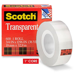 3/4-inch transparent tape