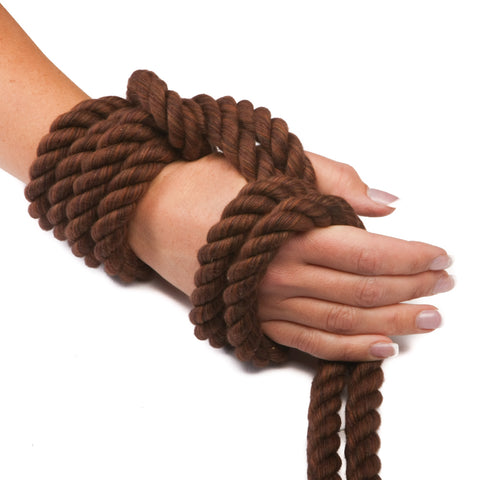Ravenox Twisted Cotton Rope in Chocolate Brown