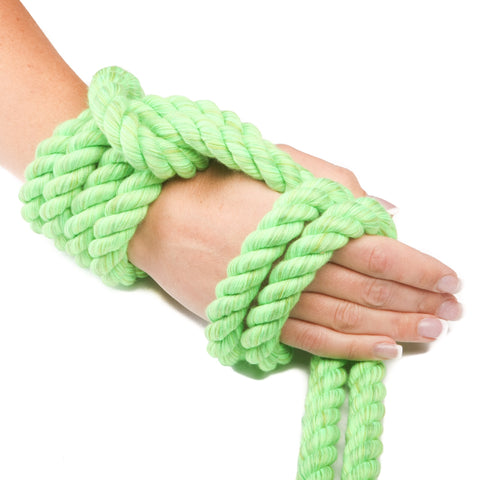 Ravenox Triple-Strand Twisted Cotton Rope in Lime Green