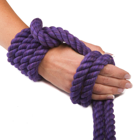 Ravenox Triple-Strand Twisted Cotton Rope in Purple
