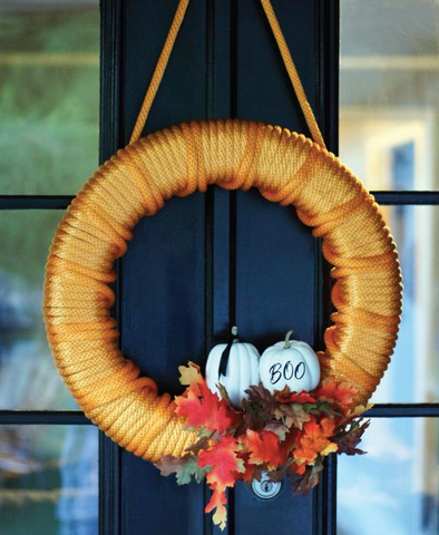 DIY Rope Halloween Decoration Ideas - How to Make a Rope Halloween Wreath