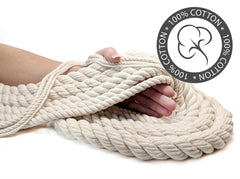 Ravenox Undyed-cotton 3-strand twisted rope for testing pigs